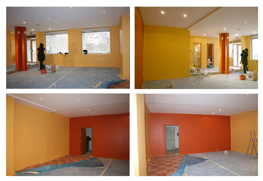 Avant apr s les r alisations en photos en architecture for Repeindre carrelage salle de bain avant apres