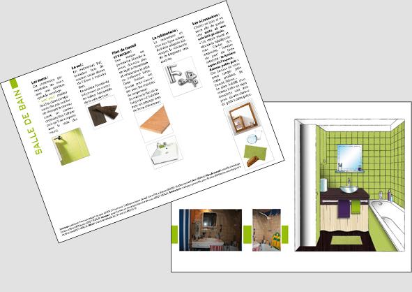 carnet présentant les différentes idées d'achat de meubles et accessoires