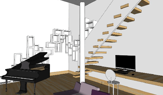 dessins et 3d contenus dans les carnets id e architecture interieure. Black Bedroom Furniture Sets. Home Design Ideas