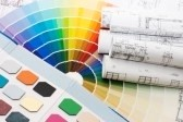 8241338-color-samples-for-selection-with-house-plan-on-background