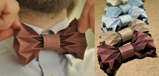 noeud-papillon-origami fête des pères