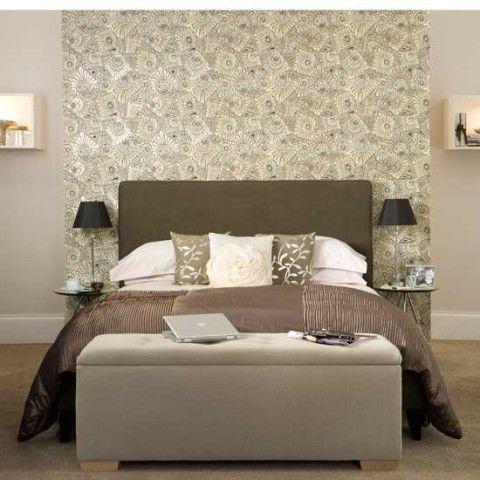10 id es pour r ussir votre t te de lit architecture for Papier peint chambre adulte romantique