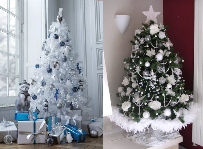 sapin,noël,tout,blanc,traditionnel