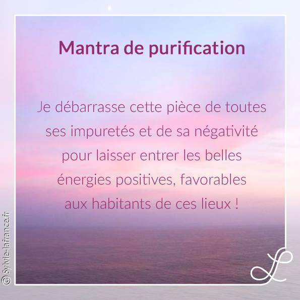 mantra purifier votre habitat